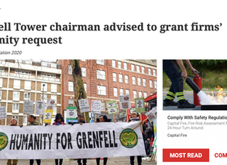 Grenfell - corporate witnesses request assurances
