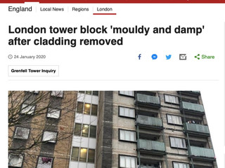 London Tower Block 'Mouldy and Damp' After Cladding Removed