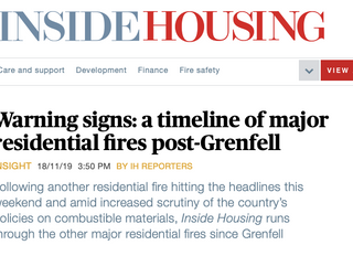Warning signs: A timeline of major residential fires post-Grenfell
