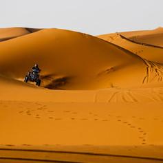 Quad dans le désert