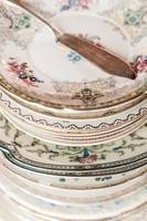 Mismatched Dessert Plates Buffet