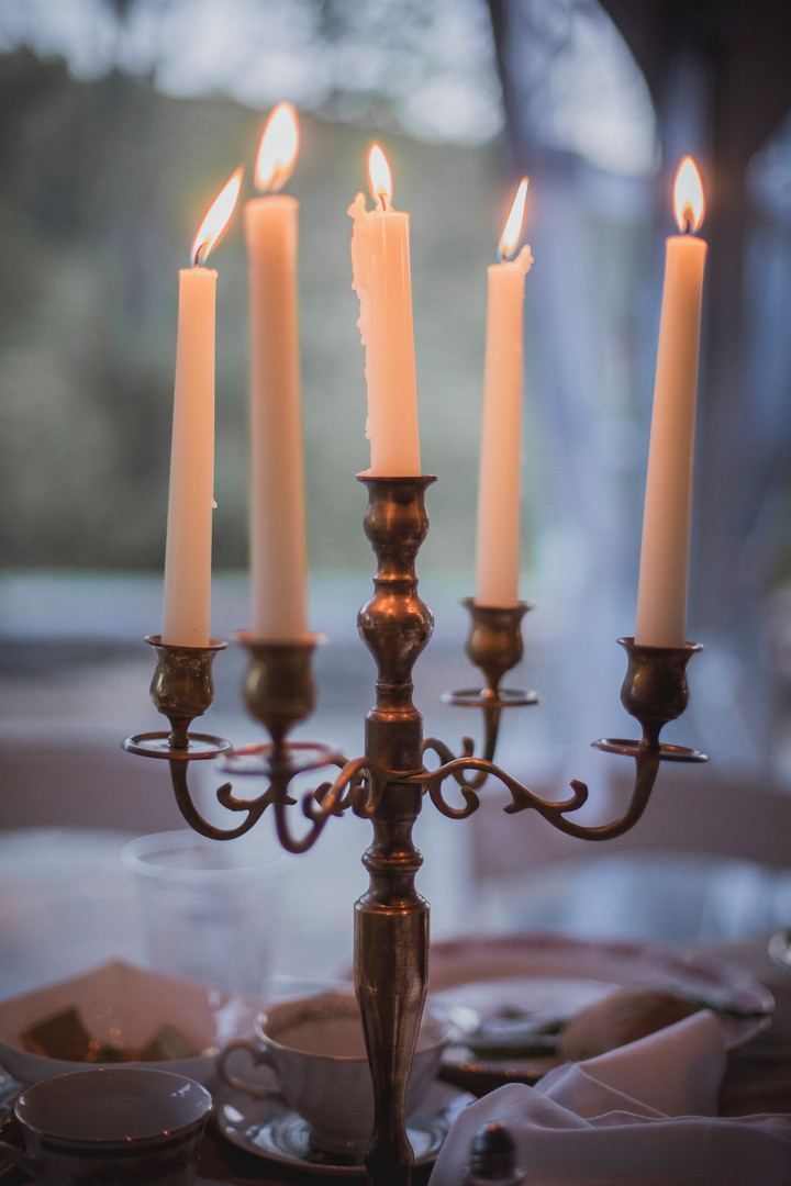 Candelabra Sweetheart Table