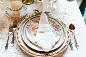 Upscale Wedding Table Placesettings