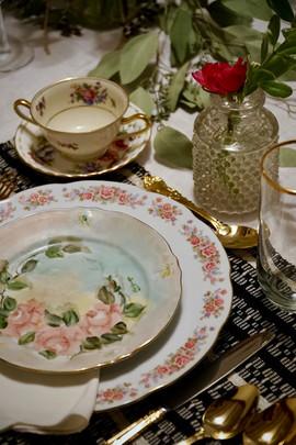 Evening Romantic Dinner Table Settings