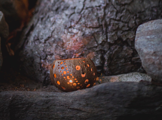 Cocunut Candle Holders
