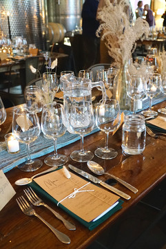 Wine Tasting Dinner Table Setup