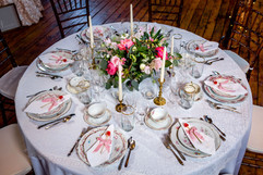 Elegant Barn Wedding Table