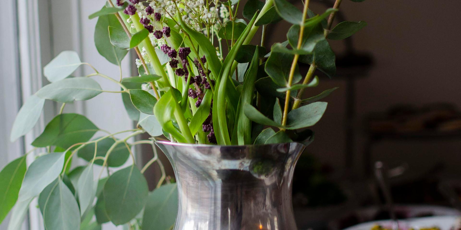Silver Pitcher Vase