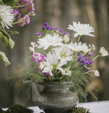 Silver Teapot Vase