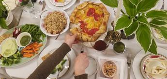 Family Style Dinner Table