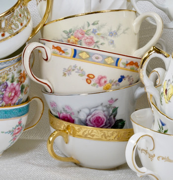 Mismatched Teacups and Saucers