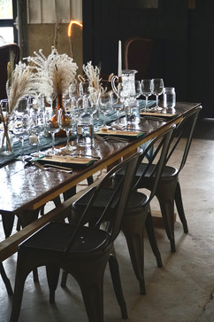 Rich Dinner Table Setting