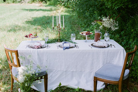 wedding sweetheart table rustic DIY