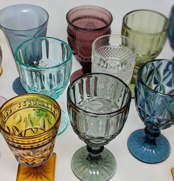 Tinted Vintage Goblets