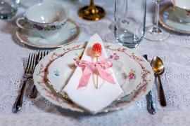 Pink China Table Settings