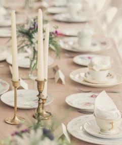 Mismatched China Wedding Table Settings