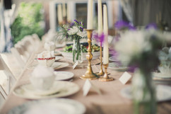 Brass Candlesticks Table Setting