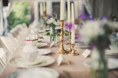 Brass Candlesticks Table Setting