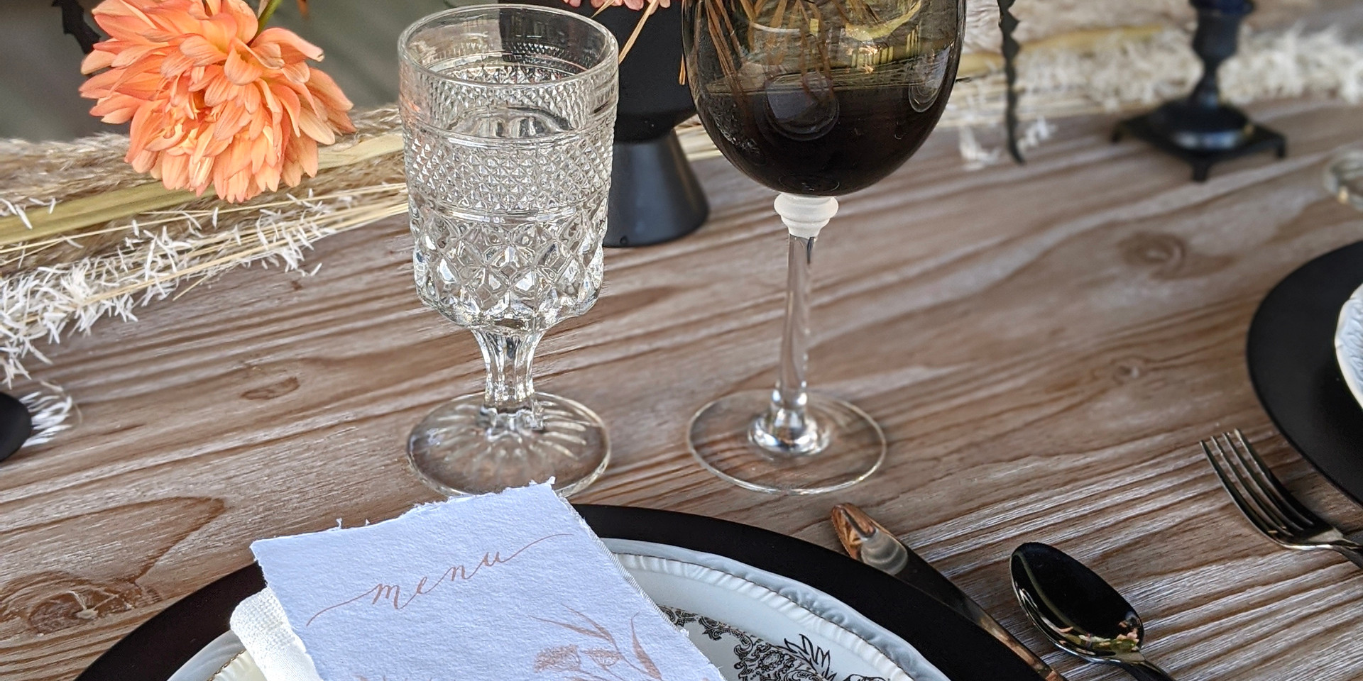 Crystal Goblet and Smoky Gray Wine Glass