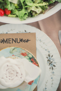 Menu Card Table Setting