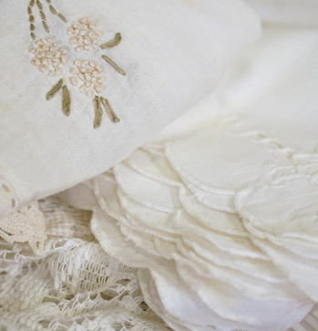 Vintage Embroidered Napkins and Lace