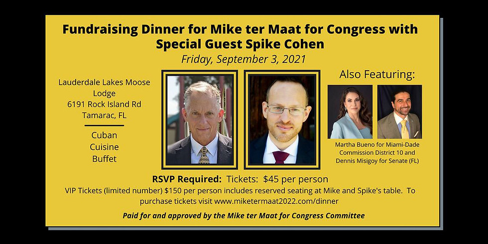 Mike ter Maat for US Congress Fundraiser