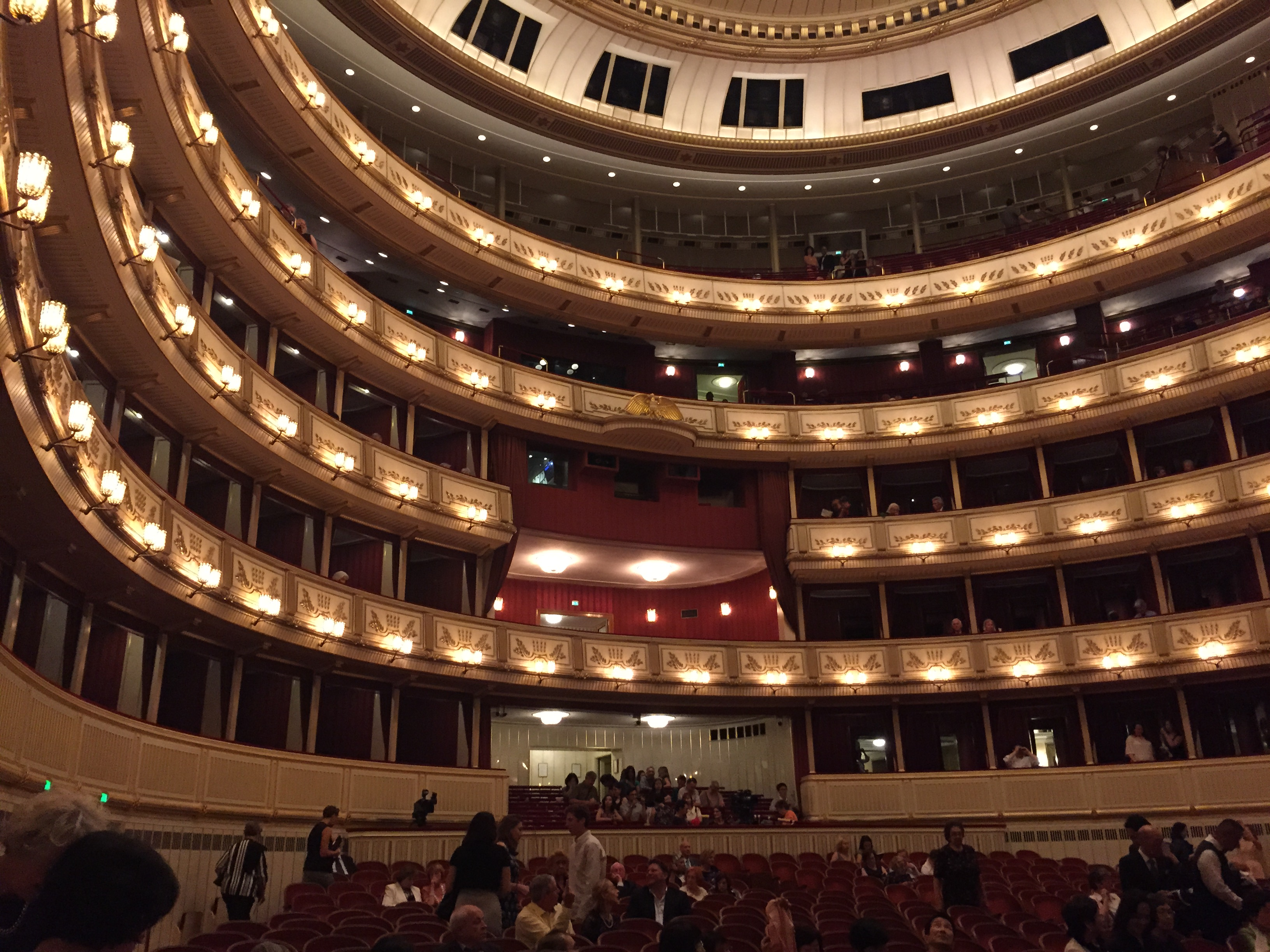ウィーン国立歌劇場内部