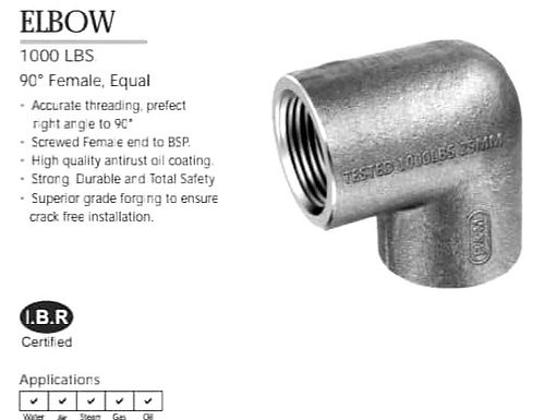 BM - MS Forged Pipe Fittings