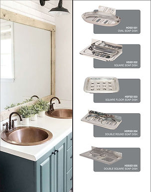 SS Soap Dish All Design