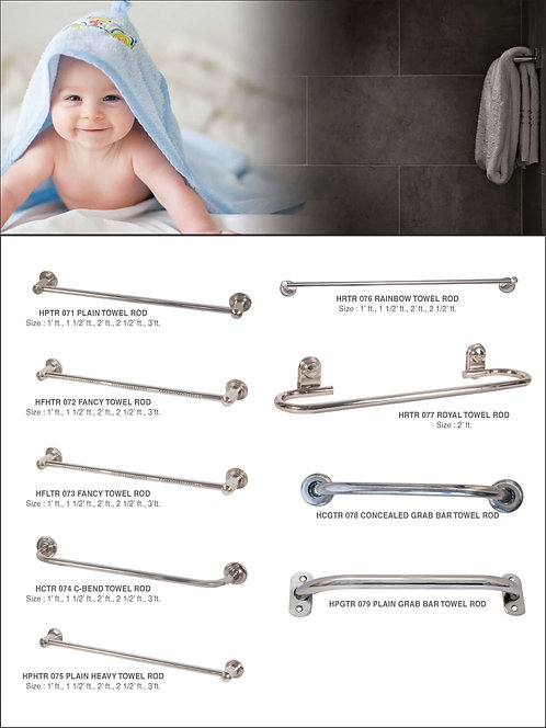 SS Towel Rod and Grab Bar