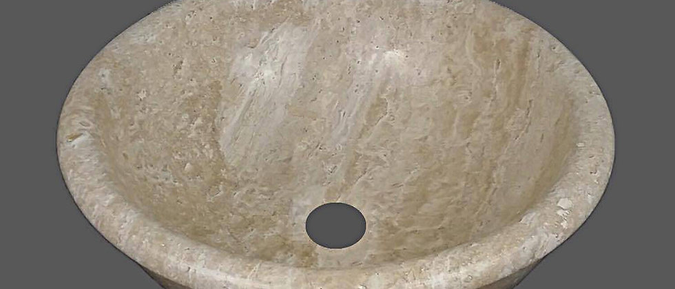 Travertine Bowl Sink - Classic Beige