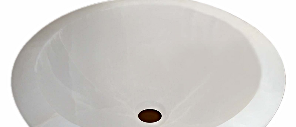 Round Onyx Sink - Majestic White
