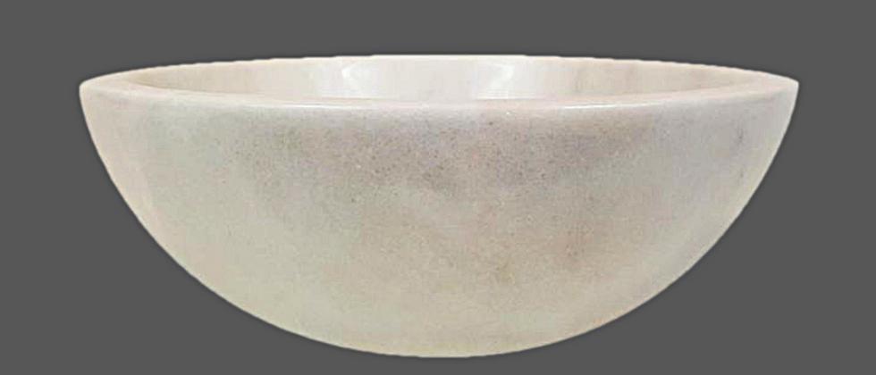 Round Marble Sink - White