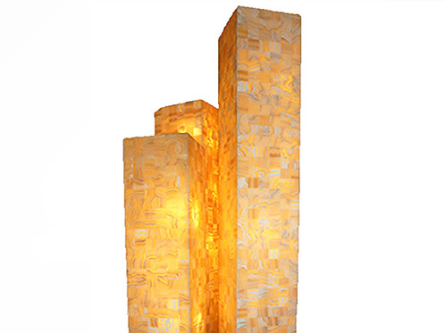 ONYX TALL MOSAIC SQUARE FLOOR LAMP | Pottery Works | Home Decorating Store