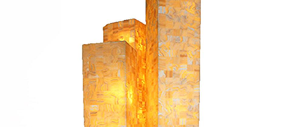 ONYX TALL MOSAIC SQUARE FLOOR LAMP