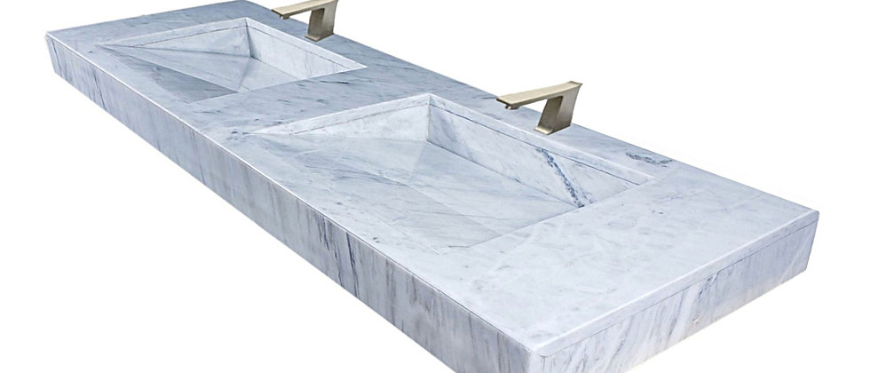 """63"""" Bego Marble Floating Double Sink"""