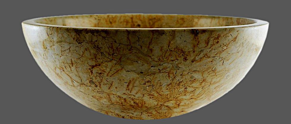 Round Marble Sink - Desert Cream