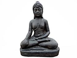 Kanshin Buddha Statue - Dark Grey