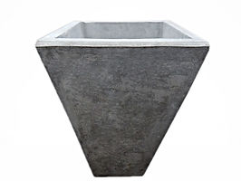 Concrete Tall Tapered Planter
