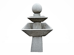 Lancaster Fountain Raw Concrete