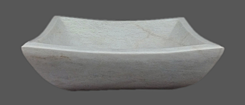Petal Marble Sink - Majestic White
