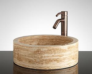 Travertine Round Sink