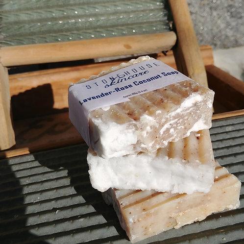 Lavender-Rose Coconut Soap