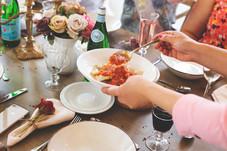 Italian red zinfandel and ravioli