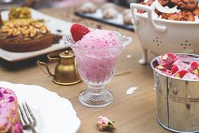 Homemade coconut & berry ice cream