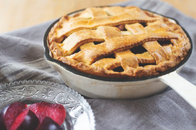 Chicken and plum pie