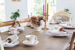 Afternoon tea table setting