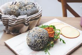 Charcoal Sourdough sandwich bun