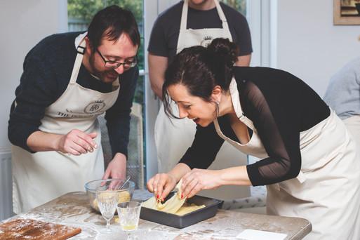 Team building baklava making