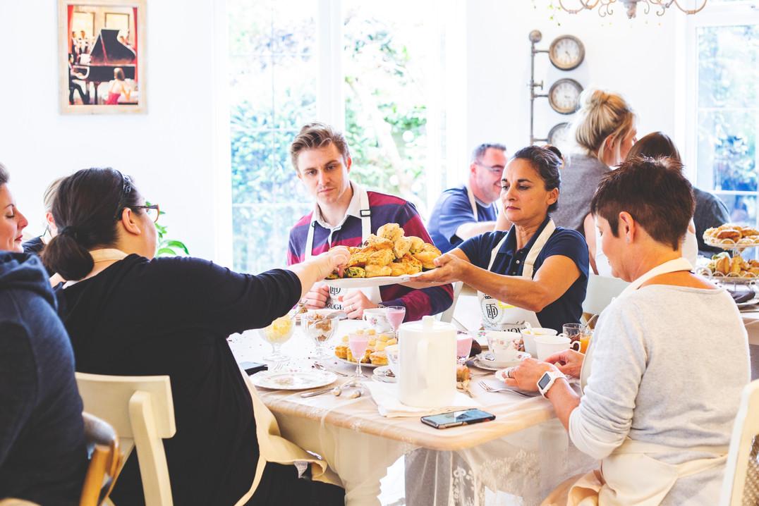 Team building afternoon tea